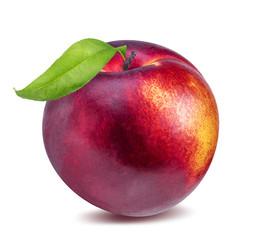 Fototapete - Nectarine Peach Fruits Isolated