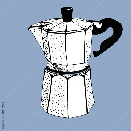 Coffee Maker Drawing ~ Quot coffee maker percolator graphic draw stock image and