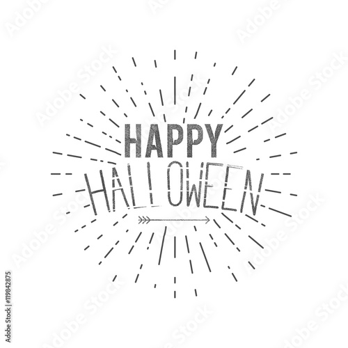 happy halloween label vector holiday wishes overlay for photo