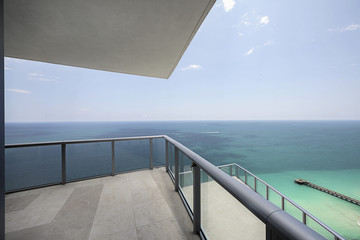 Modern balcony with Ocean View at Miami Beach
