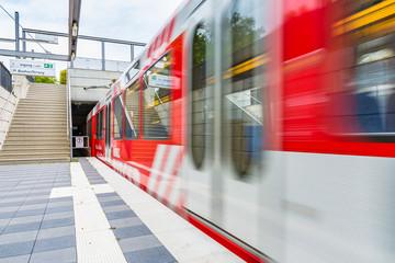 Stuttgart Public Transport Subway Doors Moving Train