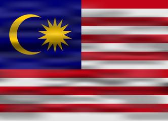 realistic flag malasya