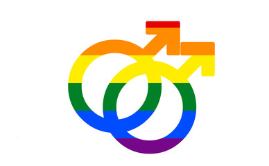 rainbow gay gender sex symbol isolated