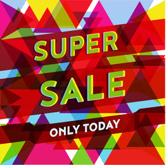 Super sale geometric polygonal poster with only today button spe