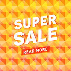 Super sale geometric polygonal poster with read more special off