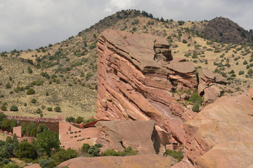Red Rocks Park with view of geological formations next to amphitheater
