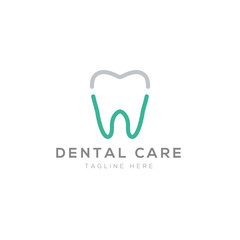 Dental logo creative design vector