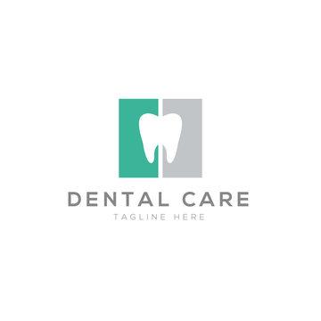 Dental logo creative design vector