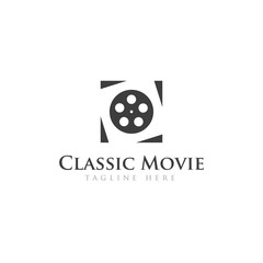 Movies logo creative logo design vector