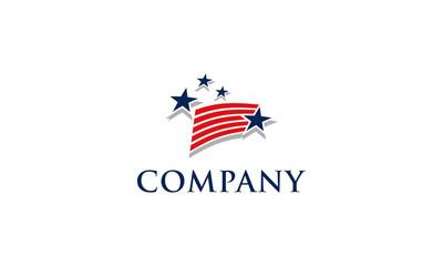 american flag logo