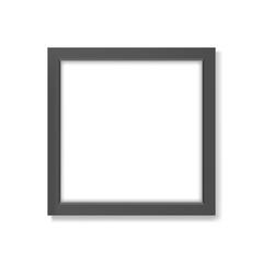 Square realistic black frame mockup