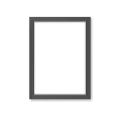 Rectangle realistic black frame mockup A4