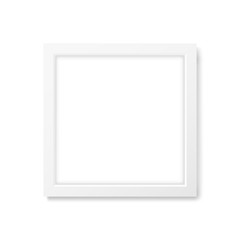Square realistic white frame mockup