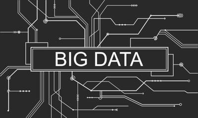 Big Data Storage Network Online Server Concept