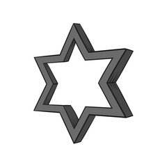Geometric figure star icon in black monochrome style isolated on white background. Figure symbol. Vector illustration