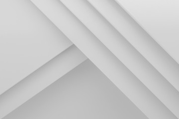 white stack paper material layer background 3d render Wall mural