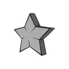 Geometrical figure of five pointed stars icon in black monochrome style isolated on white background. Figure symbol. Vector illustration