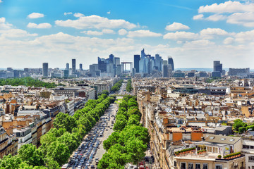 Fototapete - PARIS, FRANCE - JULY 06, 2016 : Beautiful panoramic view of Pari