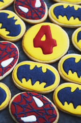 Hand painted sweet biscuit for boy birthday holiday