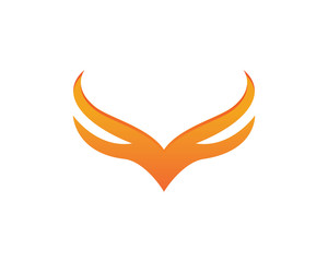 V Wing Logo Template