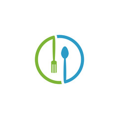 restaurant concept logo icon design template vector