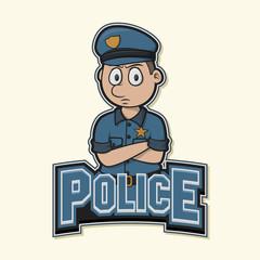 police logo illustration design