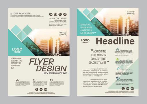 Brochure flyer annual report leaflet mock up template layout design.