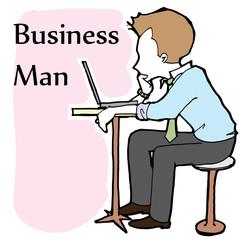 business man cartoon vector character