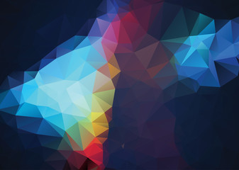 Abstract retro TriangleColor Background, Vector