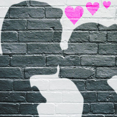 Graffiti, le baiser.