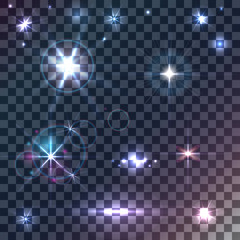 Vector stars and sparkles