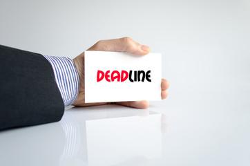 Deadline text concept