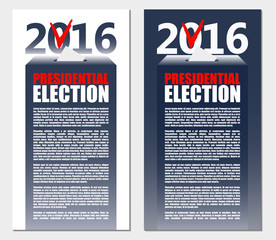 American Election 2016 background. Poster or brochure template.