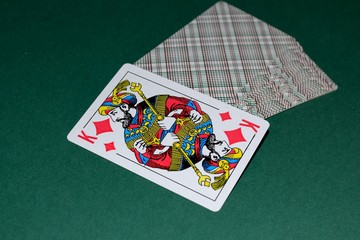 Card bit the king.