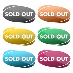 Sold out vector icon