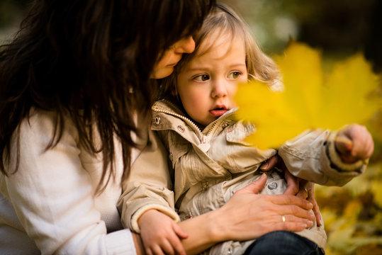Regretting child - autumn mood