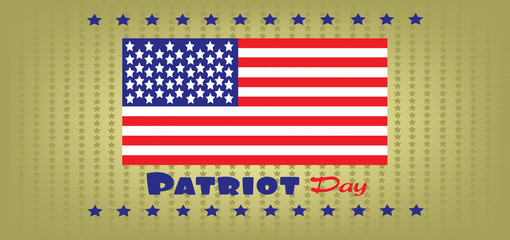 Vector Patriot Day, with usa flag and stars
