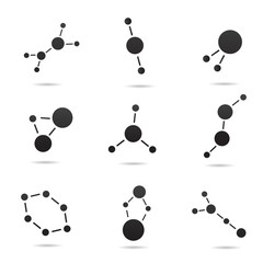 Atom vector icon.