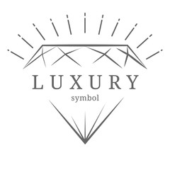 luxury diamond gem contour symbol