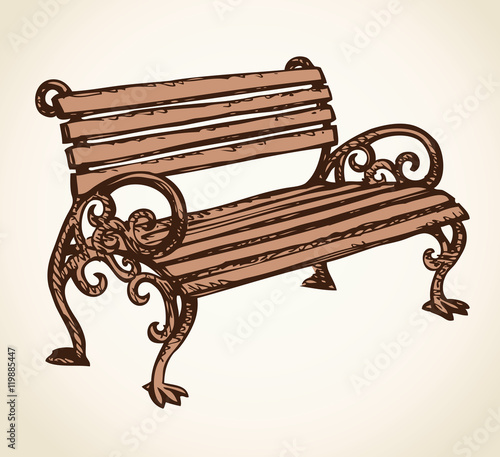 quotpark bench vector drawingquot stock image and royaltyfree