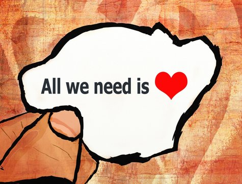 all we need is love illustration