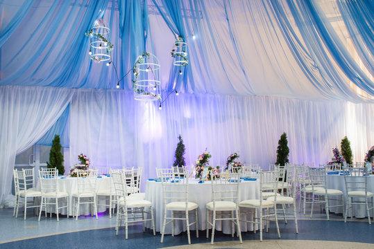 wedding decorations in banquet hall