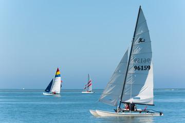 Catamaran sur l'eau