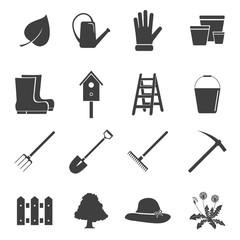 Garden icons set.