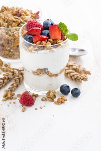 quot healthy dessert with yogurt muesli and berries
