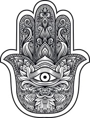Hamsa or hand of Fatima
