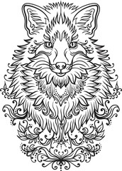 Fox tatoo design
