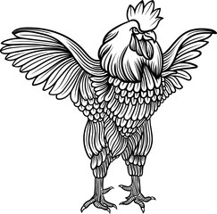 Vector stylized rooster