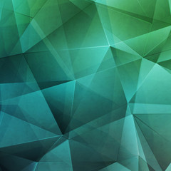 Polygonal blue and green background