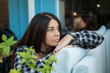 stylish beautiful brunette
